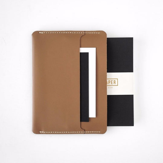 Simple Notebook Sleeve in Brown