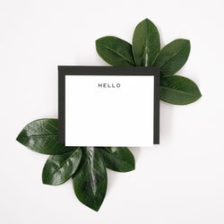 Hello Letterpress Notecard Set