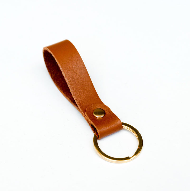 Keychain in Tan
