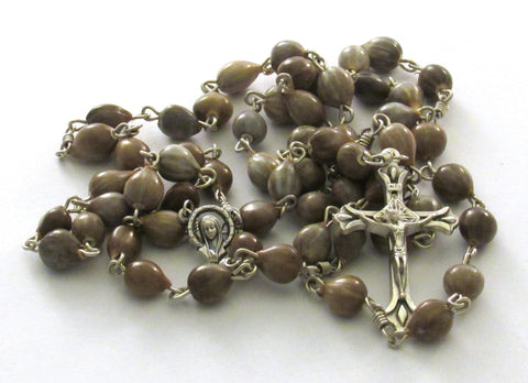 Handmade Job's Tear Teardrop Crucifix Rosary