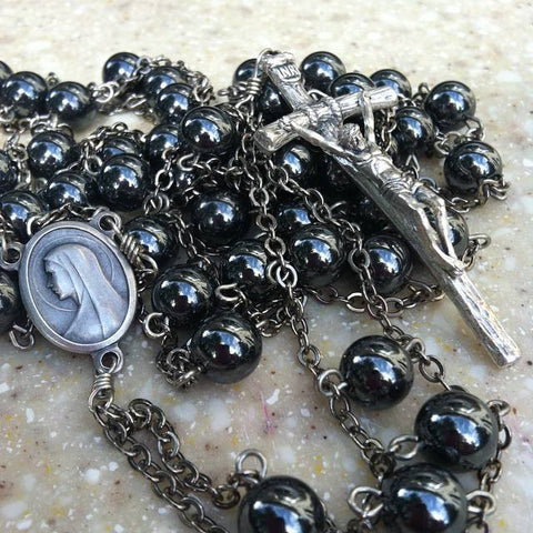 Hemalyke Papal Ladder Rosary Catholic Handmade Devotional