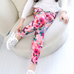 Girls Flower Printed Leggings -Yoga Pants