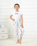Girls Mermaid Print Leggings -Yoga Pants