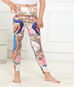 Girls Watercolor Peacock Leggings -Yoga Pants