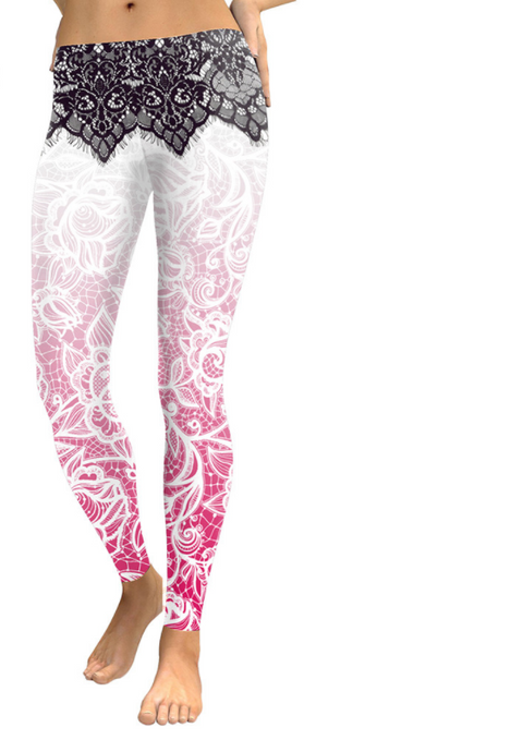 Women 3D Flowers Leggings -Yoga Pants