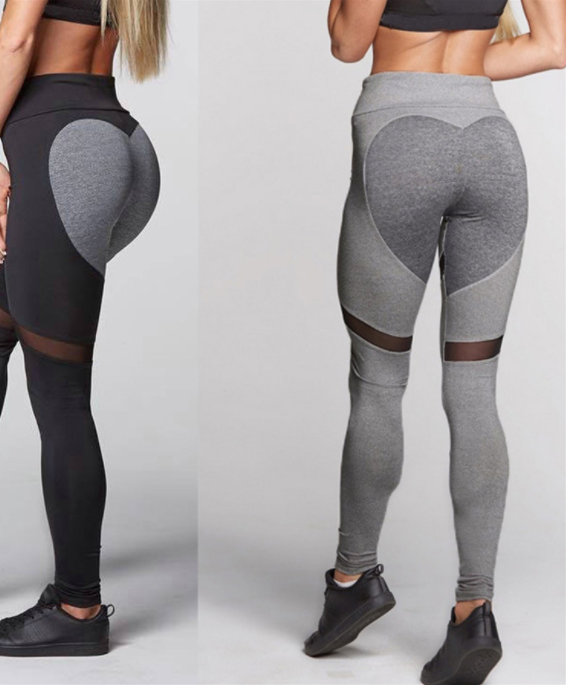 Women Heart-Shaped Leggings -Yoga Pants