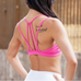 Women Pink Strappy Sports Bra