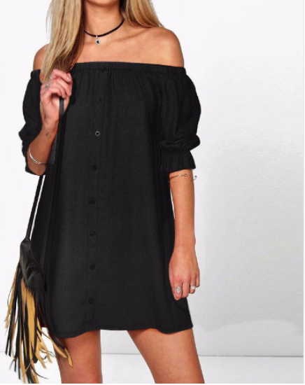 Women Sexy Off-Shoulder Dress