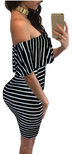 Women Striped Summer Dress -Women Dress