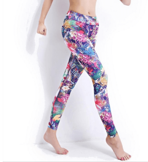 New Women Floral Yoga Pants -Yoga Pants