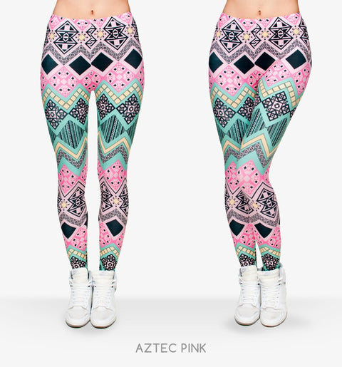 Women New Fashion Aztec Leggings
