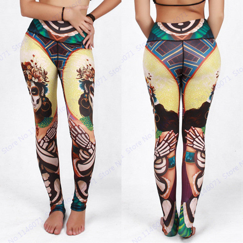 Women Sugar Skull Yoga Pants