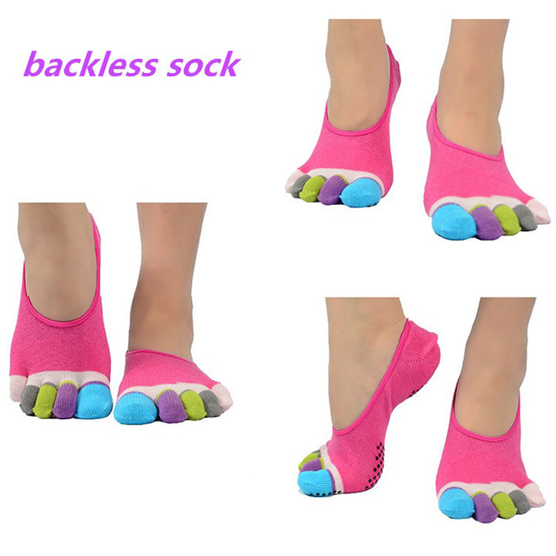 Women Anti-Slip Backless Yoga Socks -yoga socks