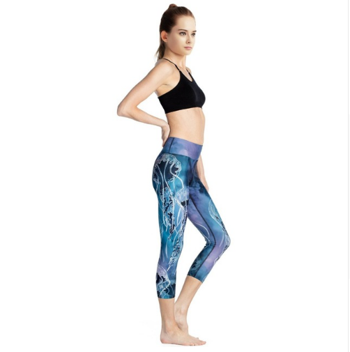 Women Jelly Fish Capri Pants