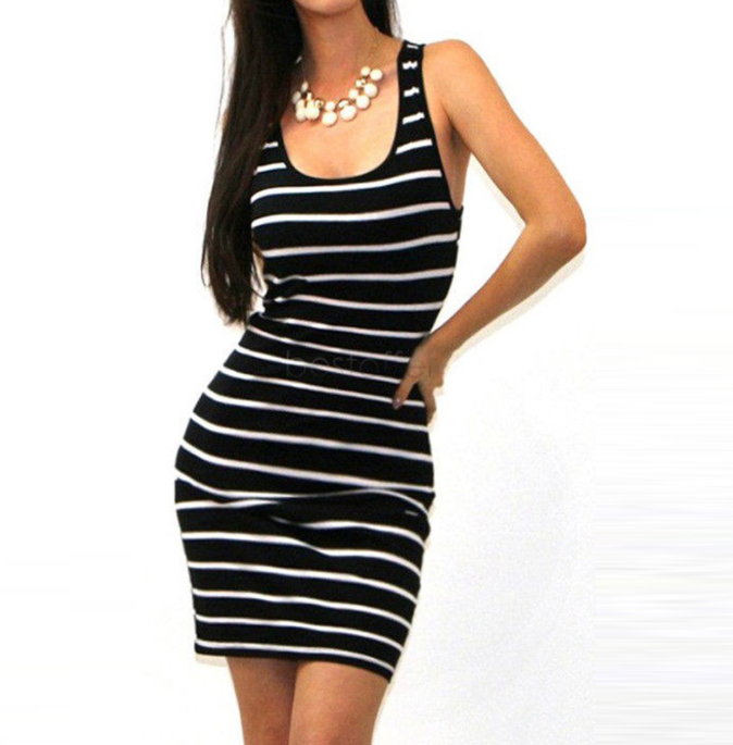 Women Beach Striped Dress -dresses