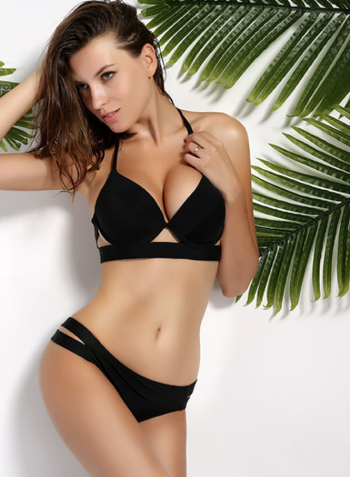 Women Black Bandage Swimsuit -Women Swimsuits