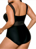 Women Black Cut Out Swimsuit -Women Swimsuits