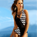Women Black Dot Swimsuit -Women Swimsuits