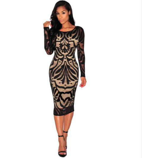 Women Black Lace Dress -dresses