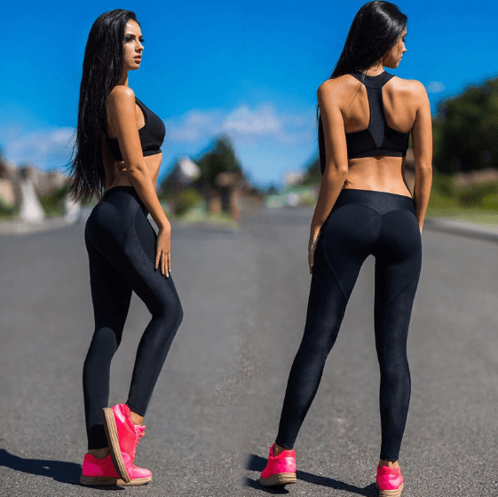 Women Black Push Up Leggings -women leggings