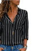 Women Black Striped Blouse -Women Blouse
