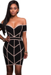 Women Black Trim Dress -women dresses