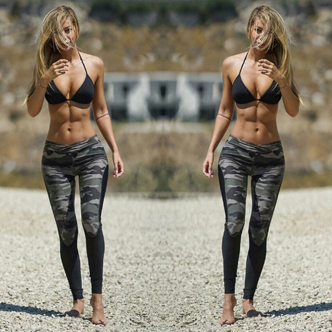 Women Camouflage Sports Leggings -Yoga Pants