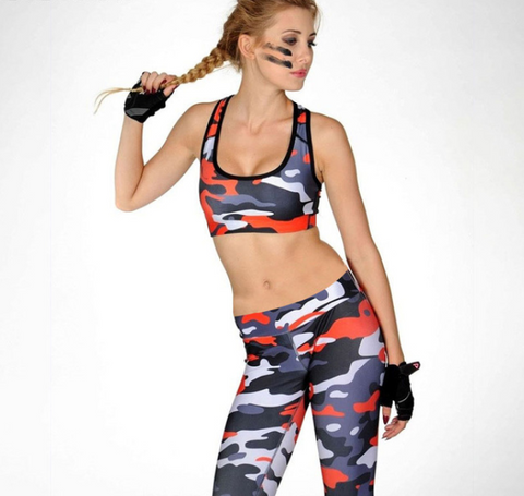 Women Camouflage Yoga Set -Women Yoga Set