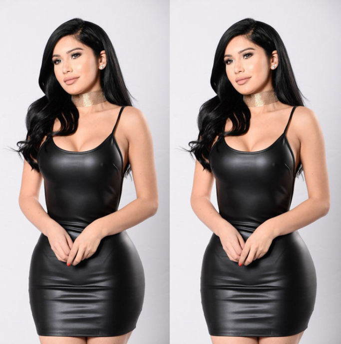 Women Catsuit Leather Dress -dresses