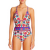 Women Floral Backless Swimsuit -women swimsuits