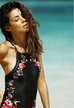 Women Floral Embroidery Swimsuit -women swimsuits