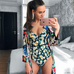 Women Floral Printed Swimsuit -Women Swimsuits