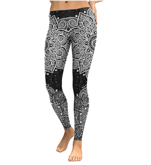Women Flower Digital Print Leggings -women leggings