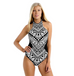 Women Geometric Backless Swimsuit -women swimsuits