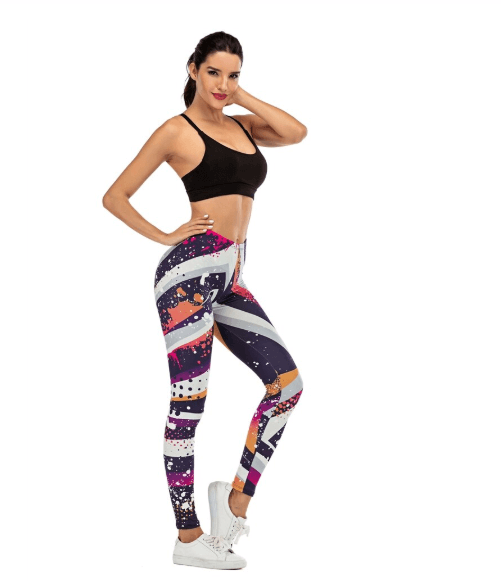 Women Graffiti Printing Leggings -women leggings