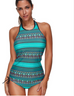 Women Green Print Swimsuit -women swimsuits