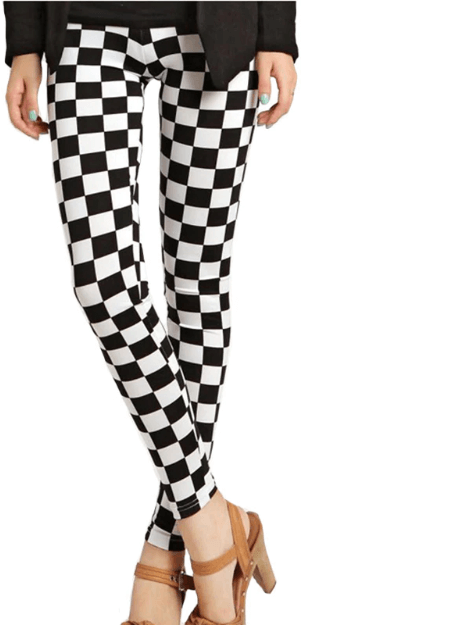 Women Grid Pattern Leggings -Women Yoga Pants