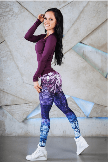 Women High Waist Printed Leggings -Women Yoga Pants