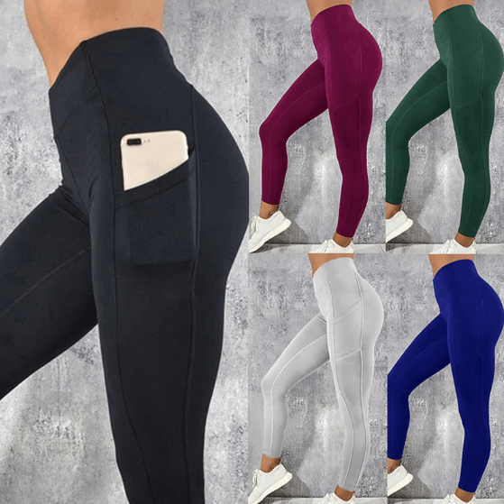 Women High Waist Pocket Leggings -women leggings