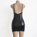 Women Leather V-Neck Dress -Women Dress