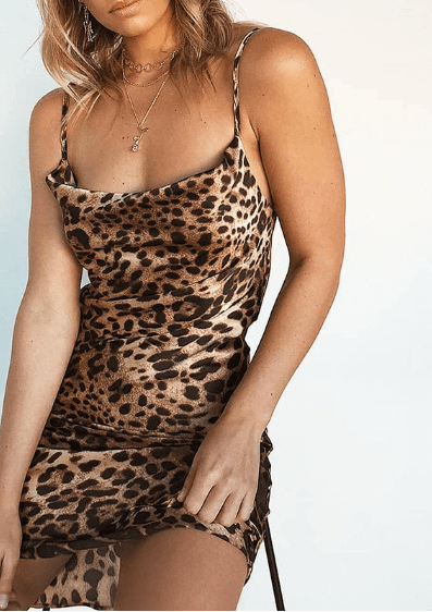Women Leopard Print Dress -women dresses