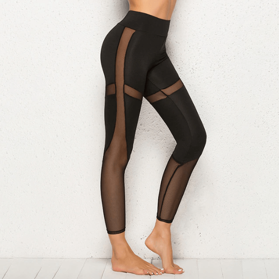 Women Mesh Design Leggings -women leggings