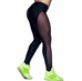 Women Mesh Patchwork Yoga Pants -Yoga Pants