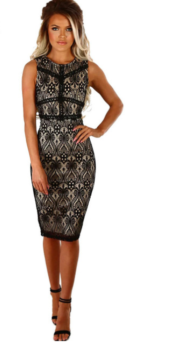 Women Midi Pencil Dress -dresses