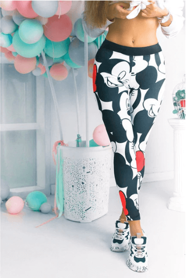 Women Minnie Mickey Leggings -women leggings