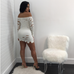 Women Off Shoulder Knitted Dress