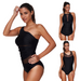 Women Plus Size Black Mesh Swimsuit -women swimsuits