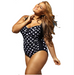 Women Plus Size Polka Dot Swimsuit -Women Swimsuits