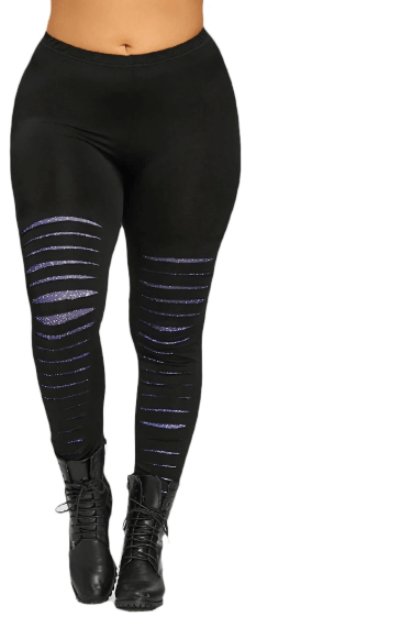 Women Plus Size Ripped Leggings -women leggings