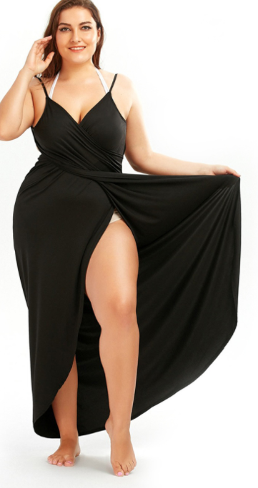 Women Plus Size Wrap Dress -Women Dress